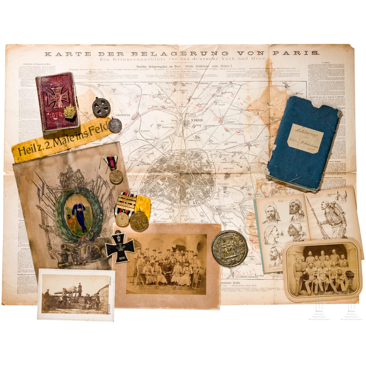 A group of awards and documents of the Franco-German War 1870/71