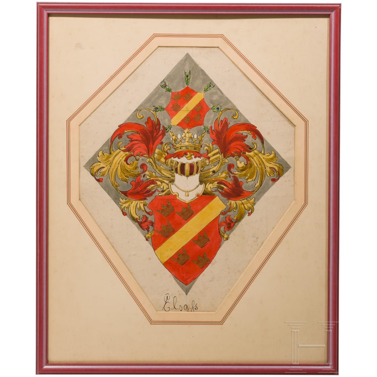 Ernst Krahl (1858 - 1923) - Alsace coat of arms