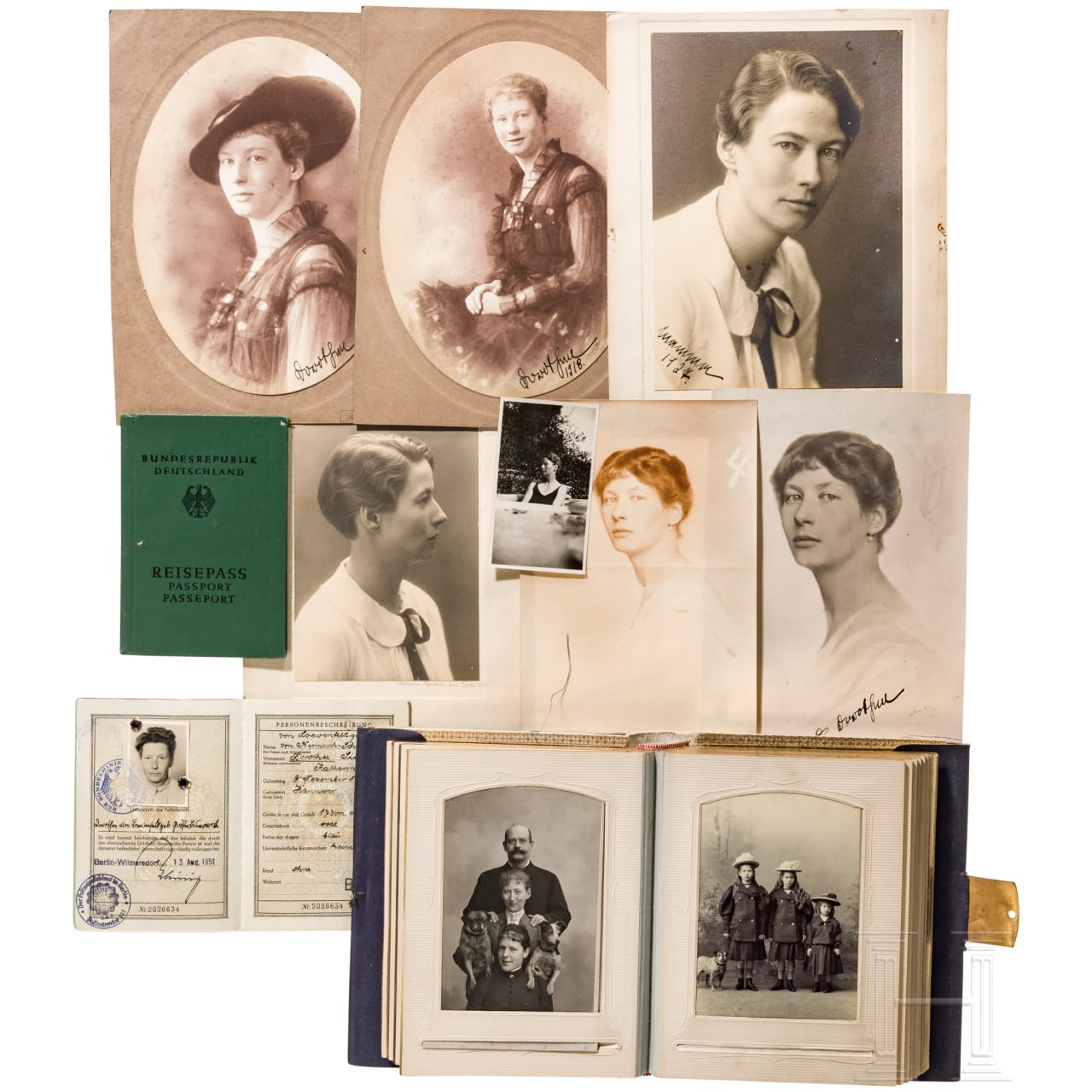 Photos and documents about Dorothee Sibylle Katharina von Bismarck-Schönhausen and her family, 19th / 20th century