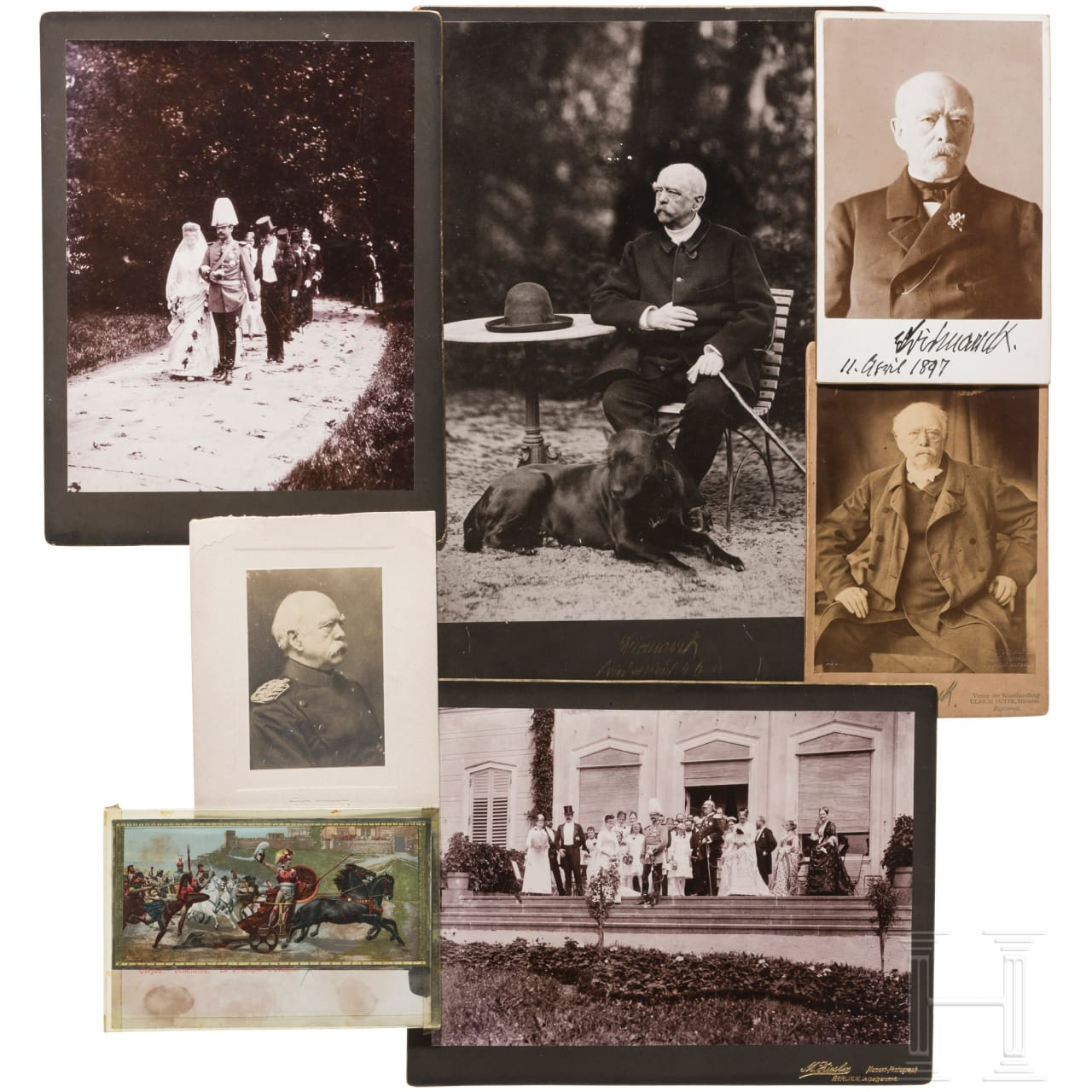 Photos and autographs of the Bismarck family