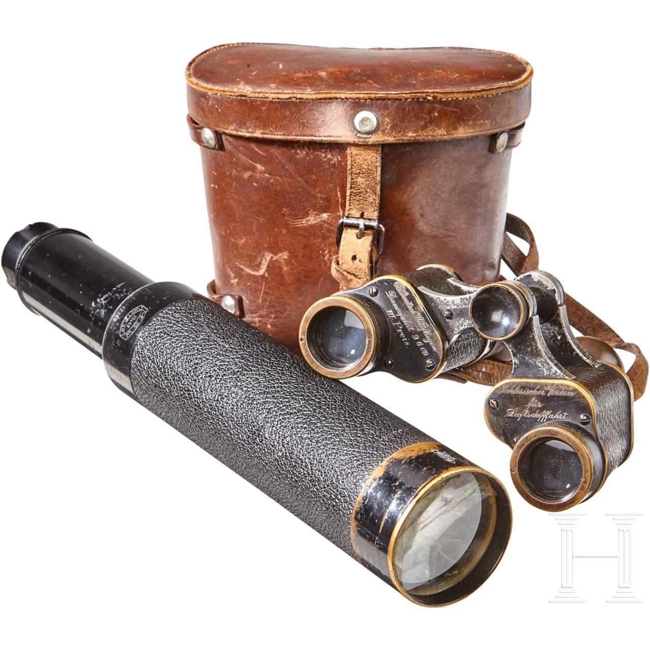 Binoculars and a Monocular