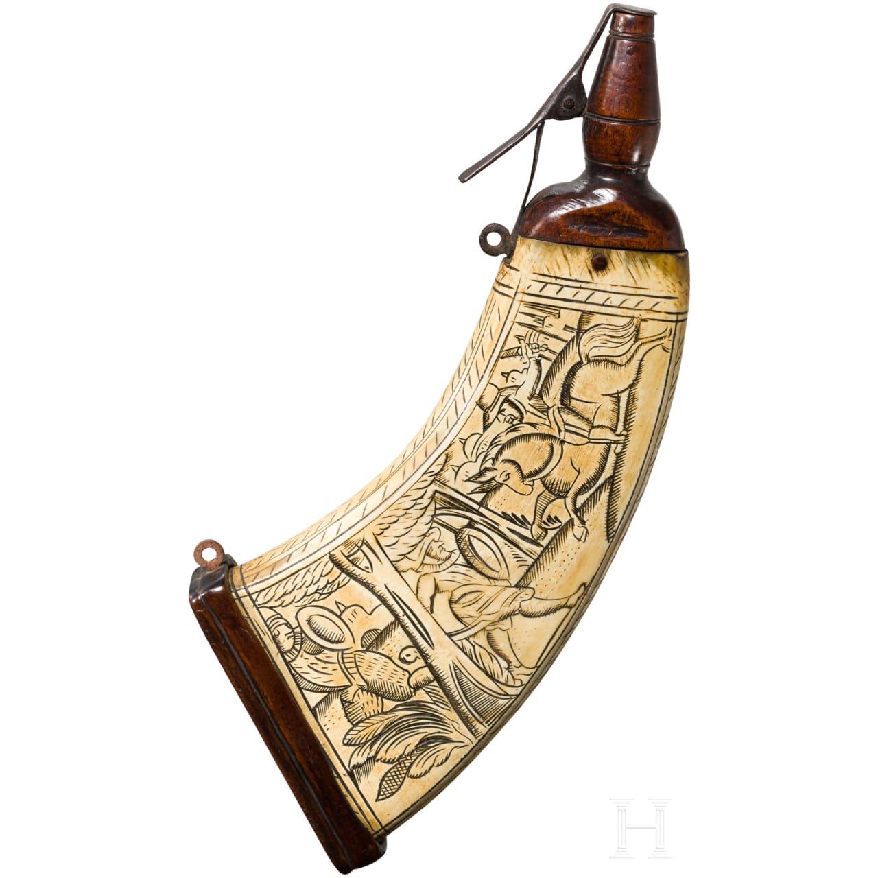 Musketier-Pulverflasche, deutsch, um 1600