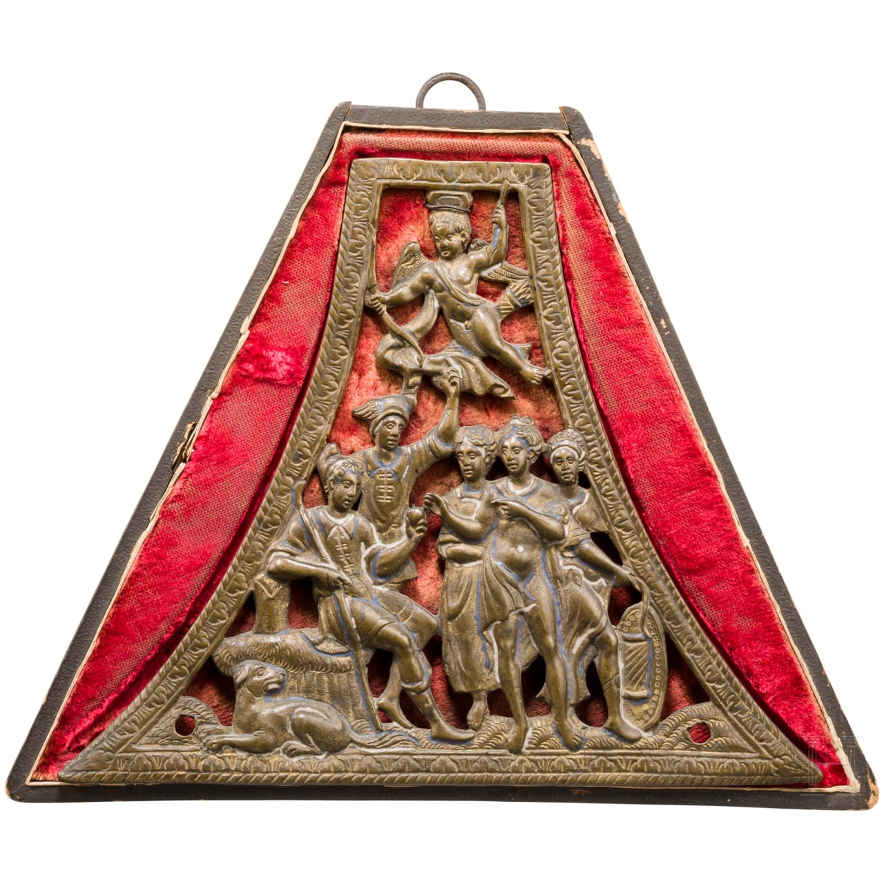 Beschlag einer Musketierpulverflasche, Frankreich, um 1610/ 20