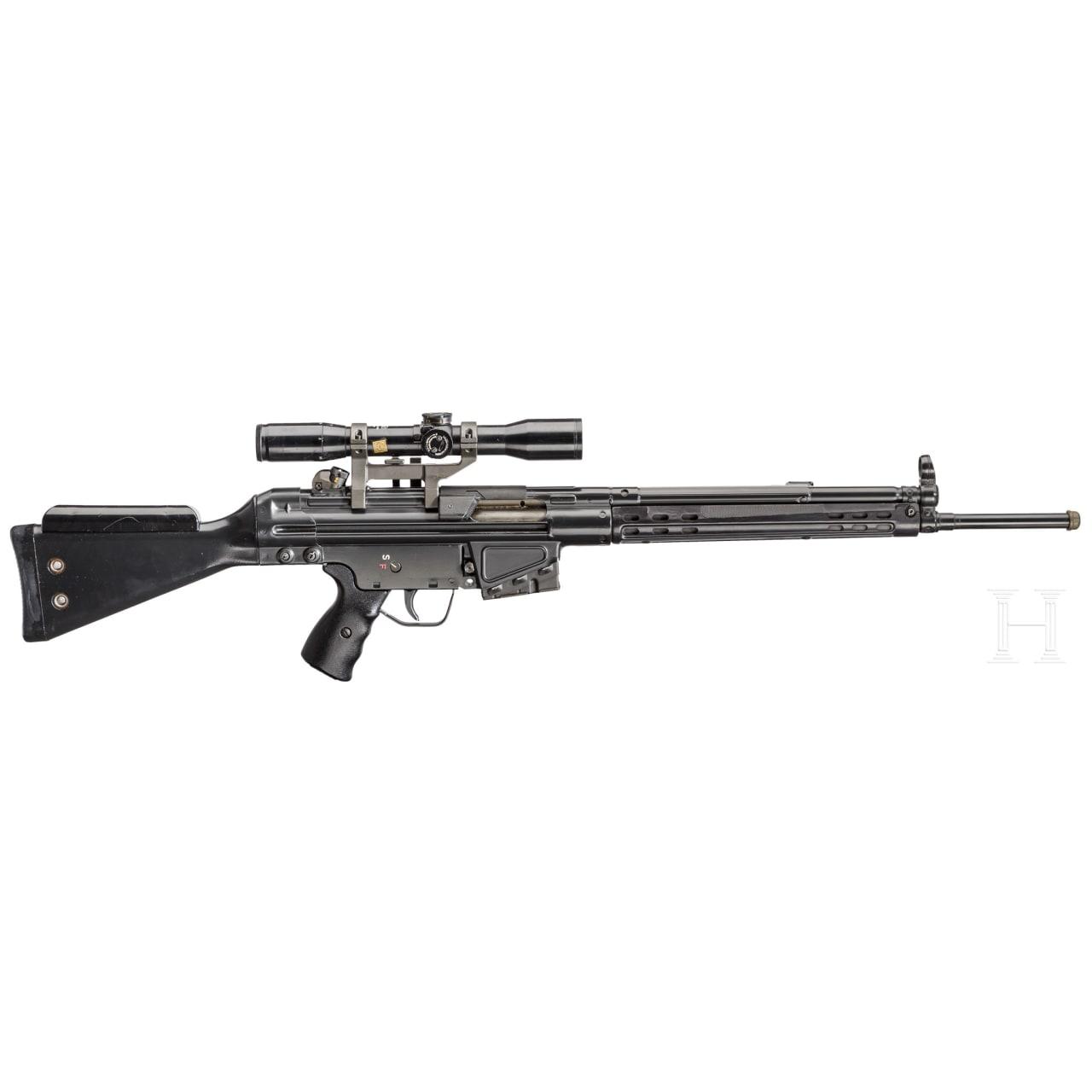 Selbstladegewehr Heckler & Koch HK 41, mit ZF Zeiss Diavari-DA