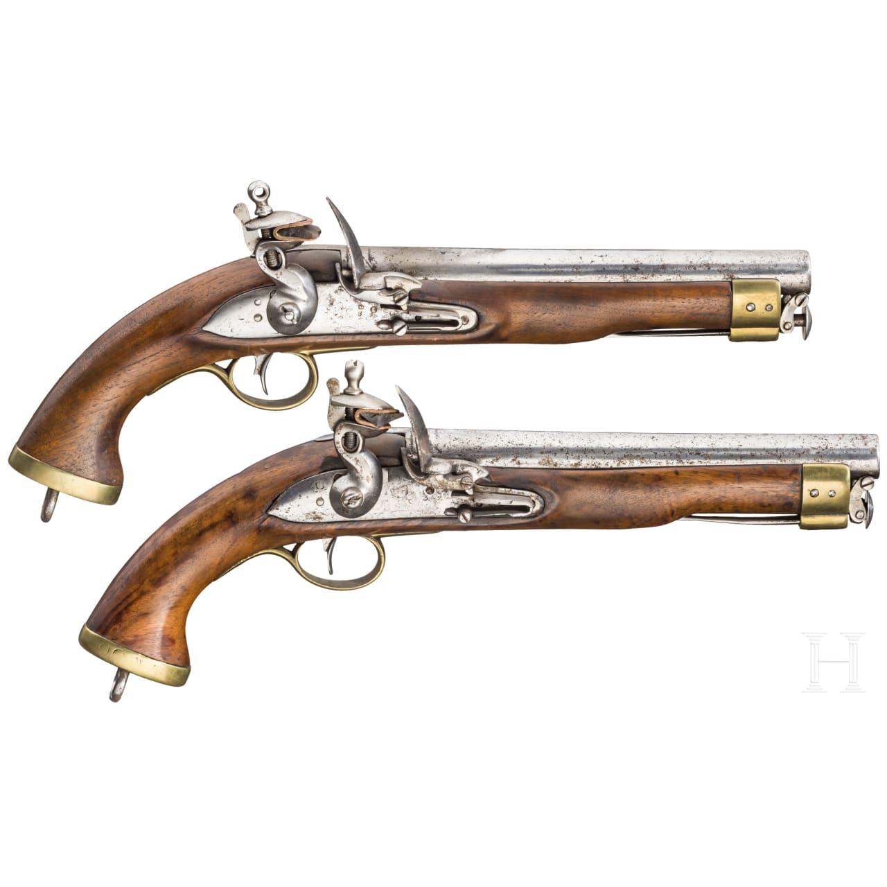 Ein Paar New Land Pattern Steinschloss-Pistolen für die East India Company, nach 1802