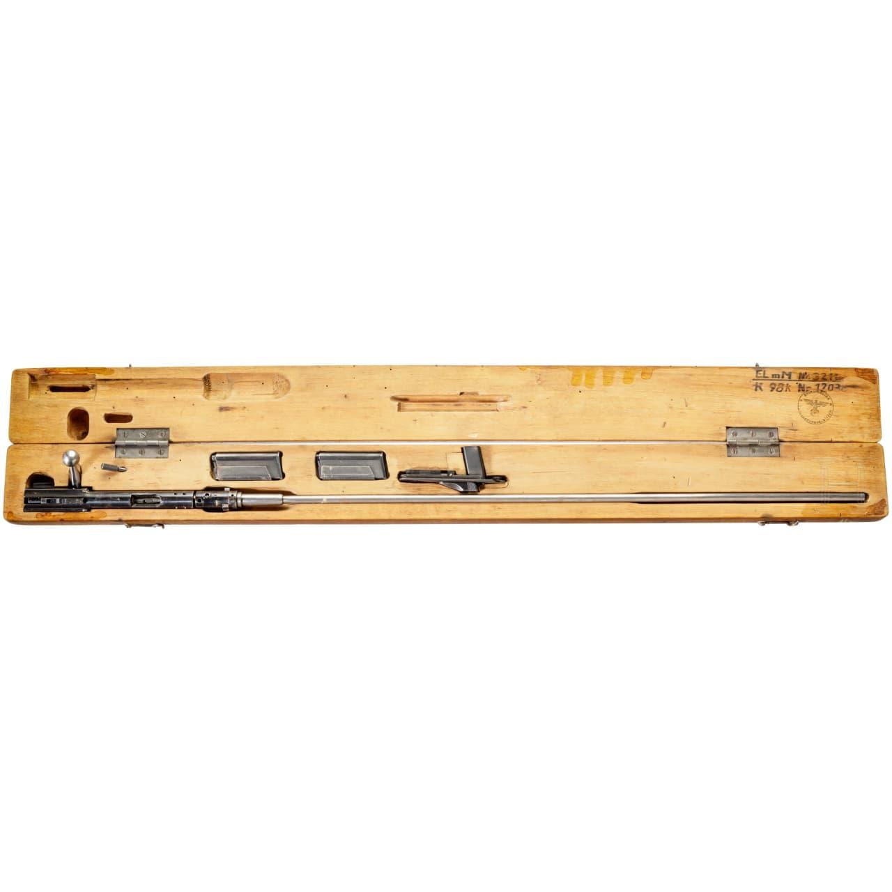 Einstecklauf Erma Mod. 1924 (E.L. 24), Mehrlader, im Kasten