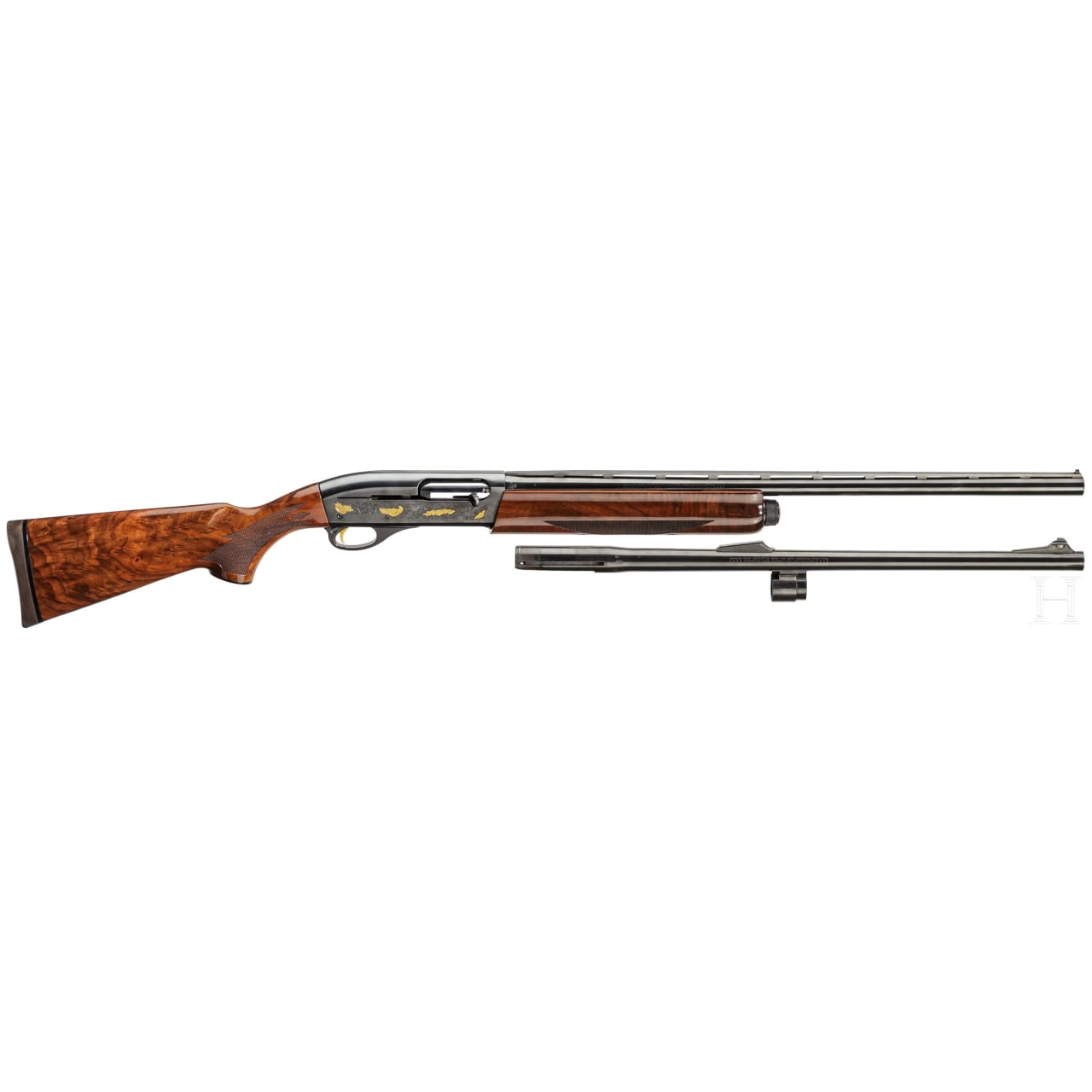 Remington Mod. 11-87 with extra barrel, No 3 of a 3-piece collector's set w/matching numbers, 180th year anniversary limited edition
