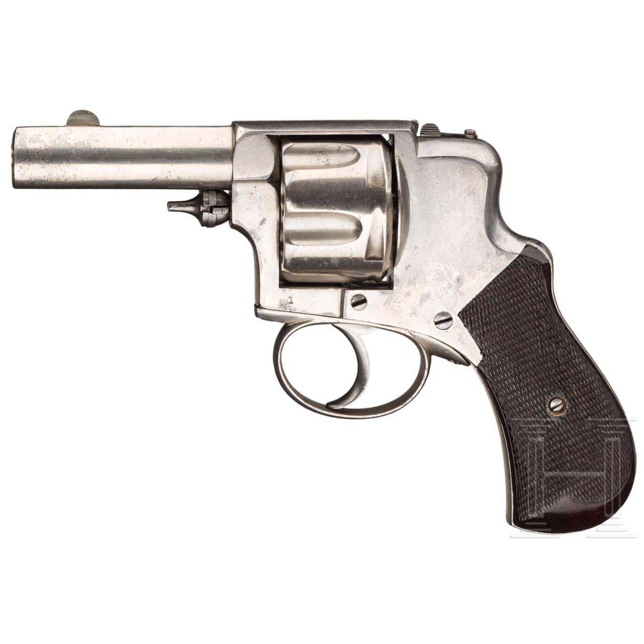 Revolver Hammerless Levaux Liège, Prototyp, um 1880