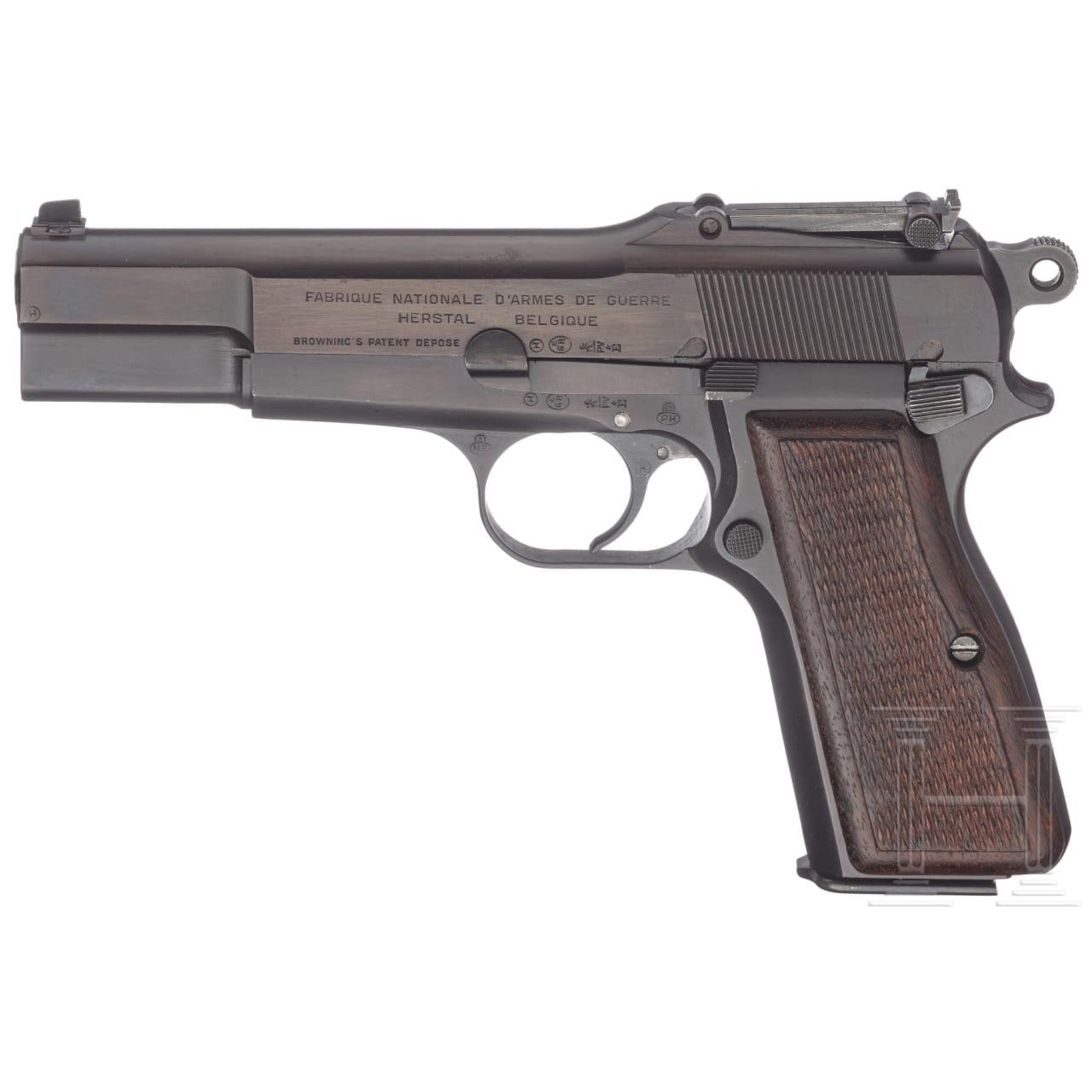 FN GP (Grande Puissance) Mod. 35, mit Tasche