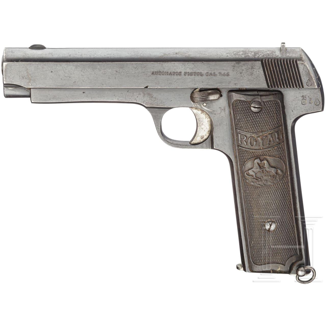 Royal pistol with long barrel