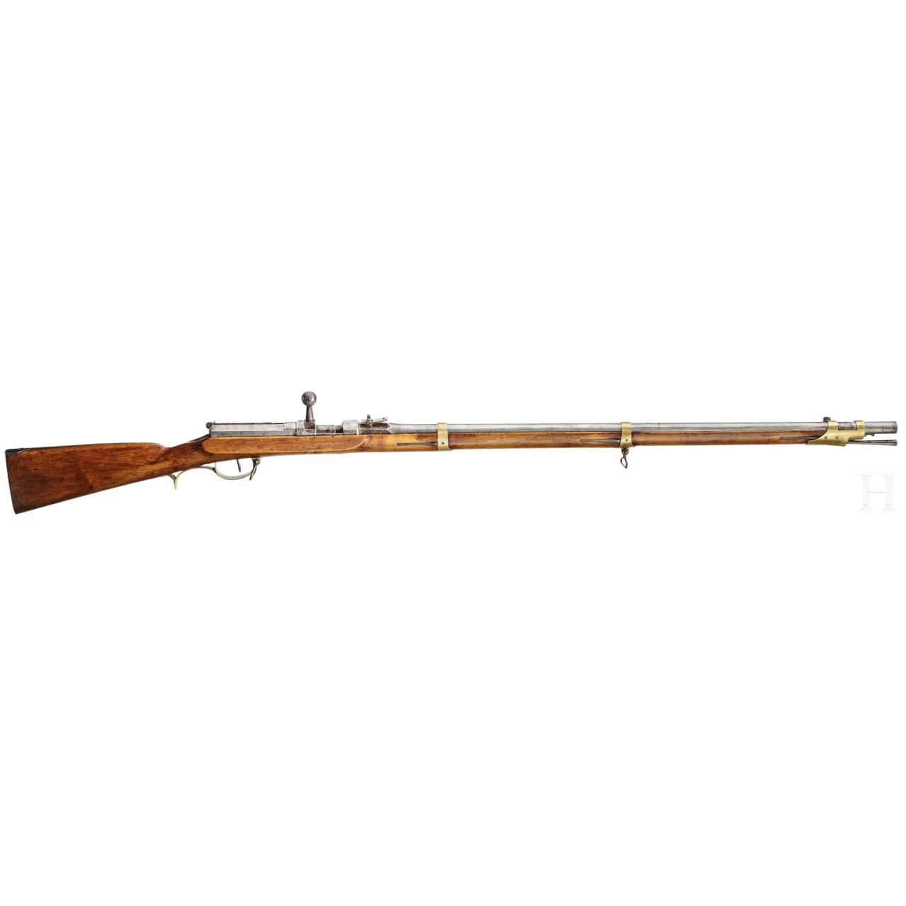 A needle fire rifle M1841