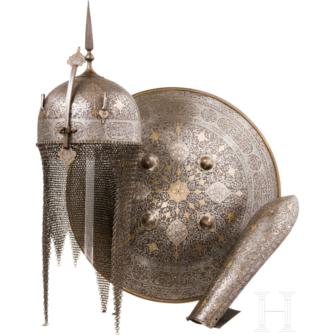 A three-piece set of Persian armour, 1st half of the 19th century
