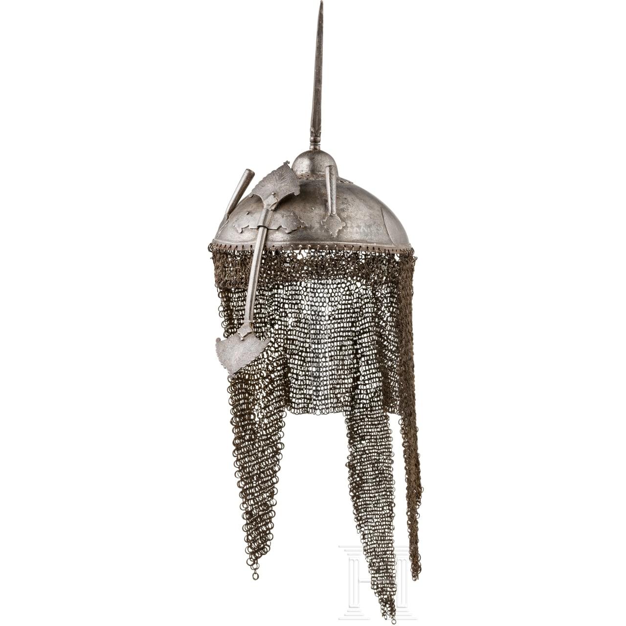A Persian flat helmet (kulah khud), 18th-19th century