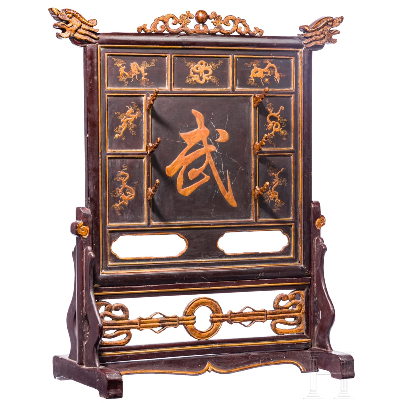 A Chinese sword stand, 19th century