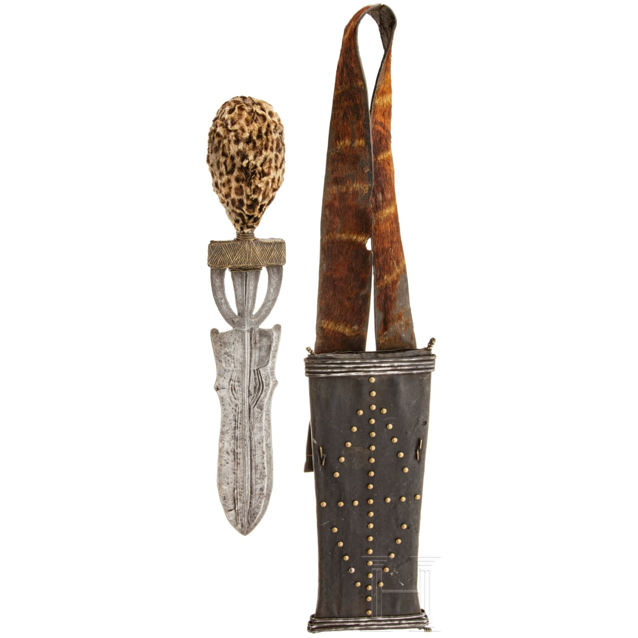 A knife of the Poto in Central Africa, circa 1900