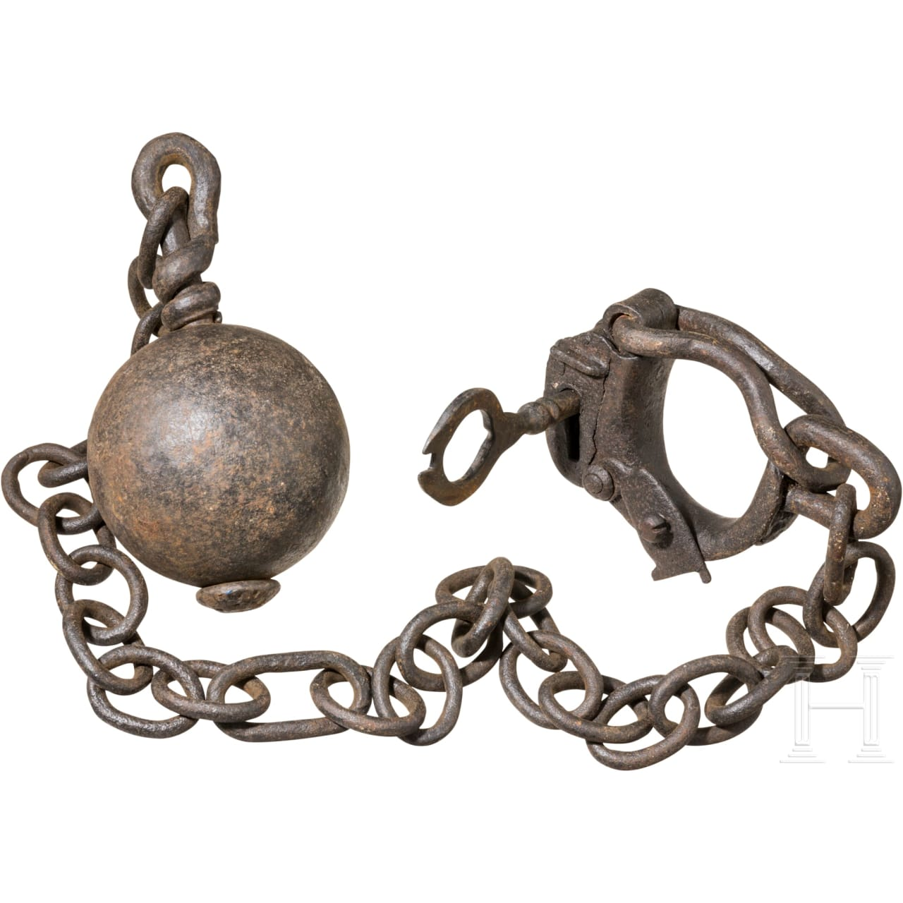 A heavy ball and chain, 18th/19th century