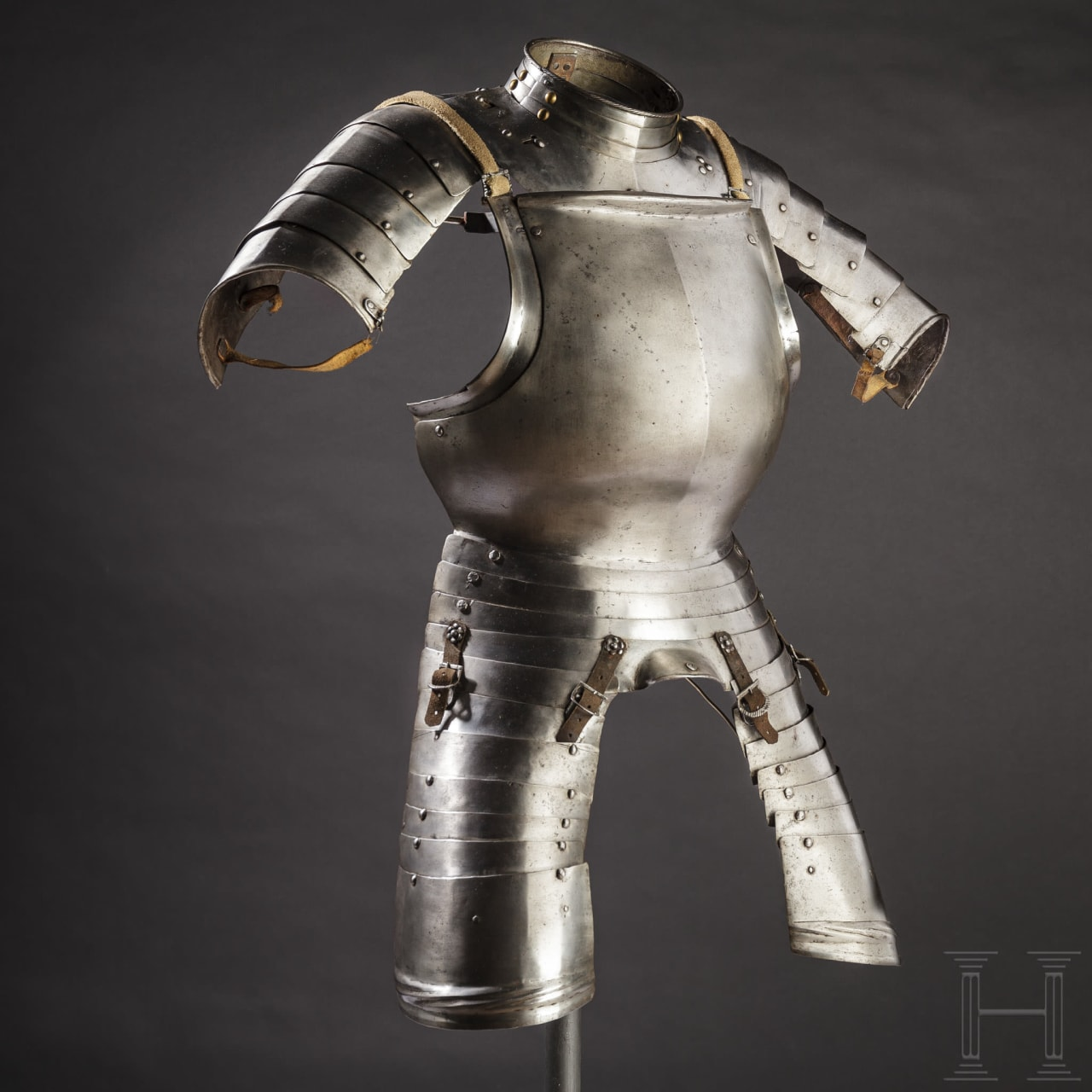 A South German breastplate and gorget, circa 1510