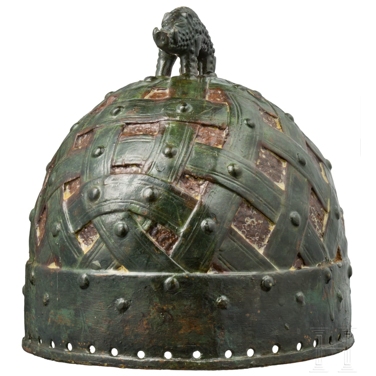 A Saxonian/Viking helmet of the Vendel-Typus, musuem-quality reproduction in 7th/8th century style