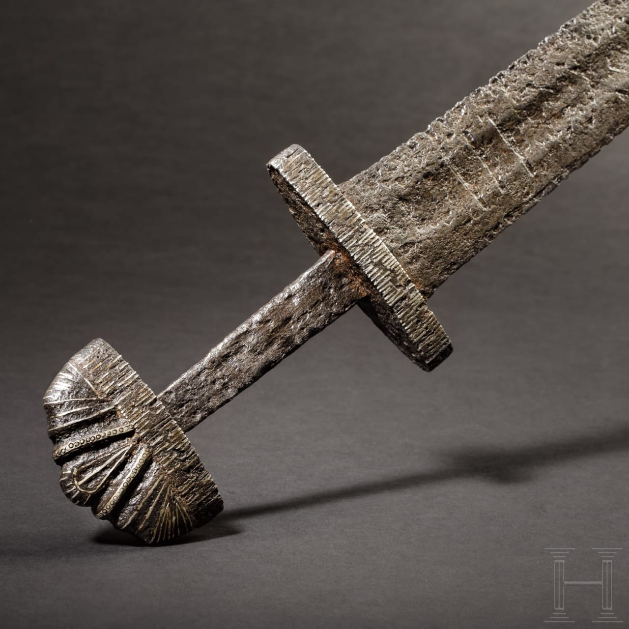 A significant northern European Viking sword with INGELRI blade, 10th century