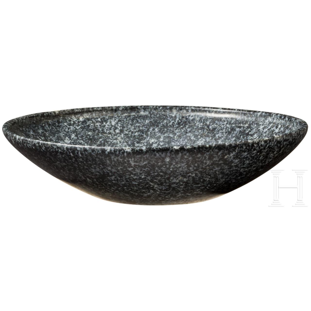 An ancient Egyptian diorite bowl, 1st – 3rd dynasty, circa 2920 – 2575 B.C.