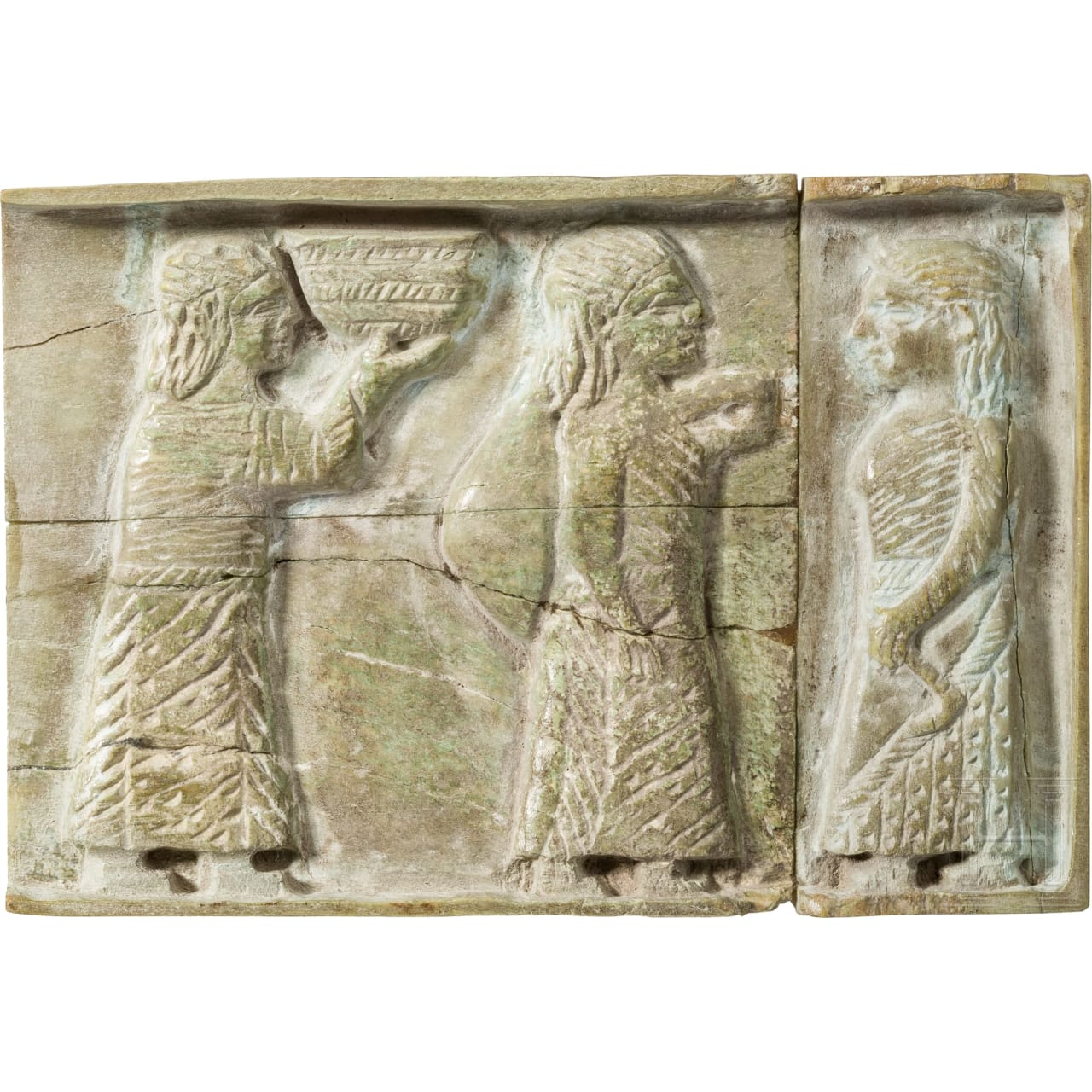 A western Asian relief plaque made of bone, 1st half of the 1st millenium B.C.
