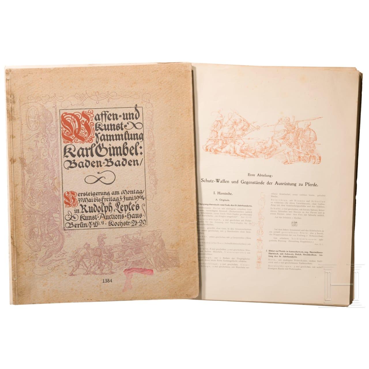 Auktionskatalog der Waffensammlung Karl Gimbel, Berlin, 1904
