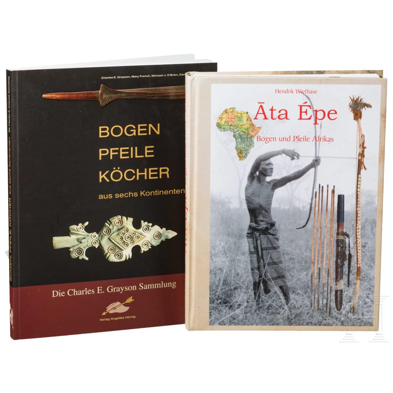 Zwei Bücher über Bogen und Pfeile