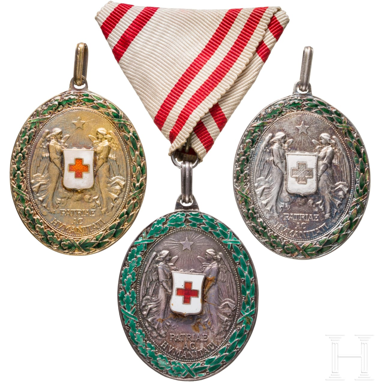 Three Red-Cross medals