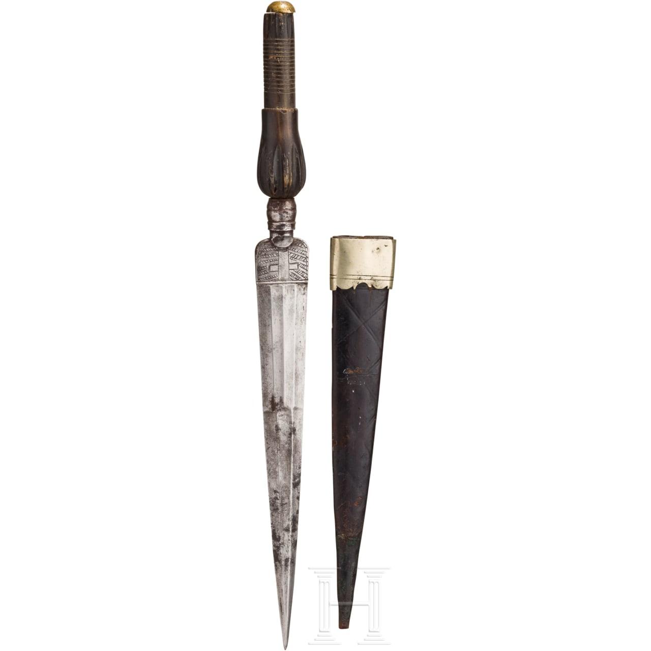 An Italian hunting plug bayonet, 18th century