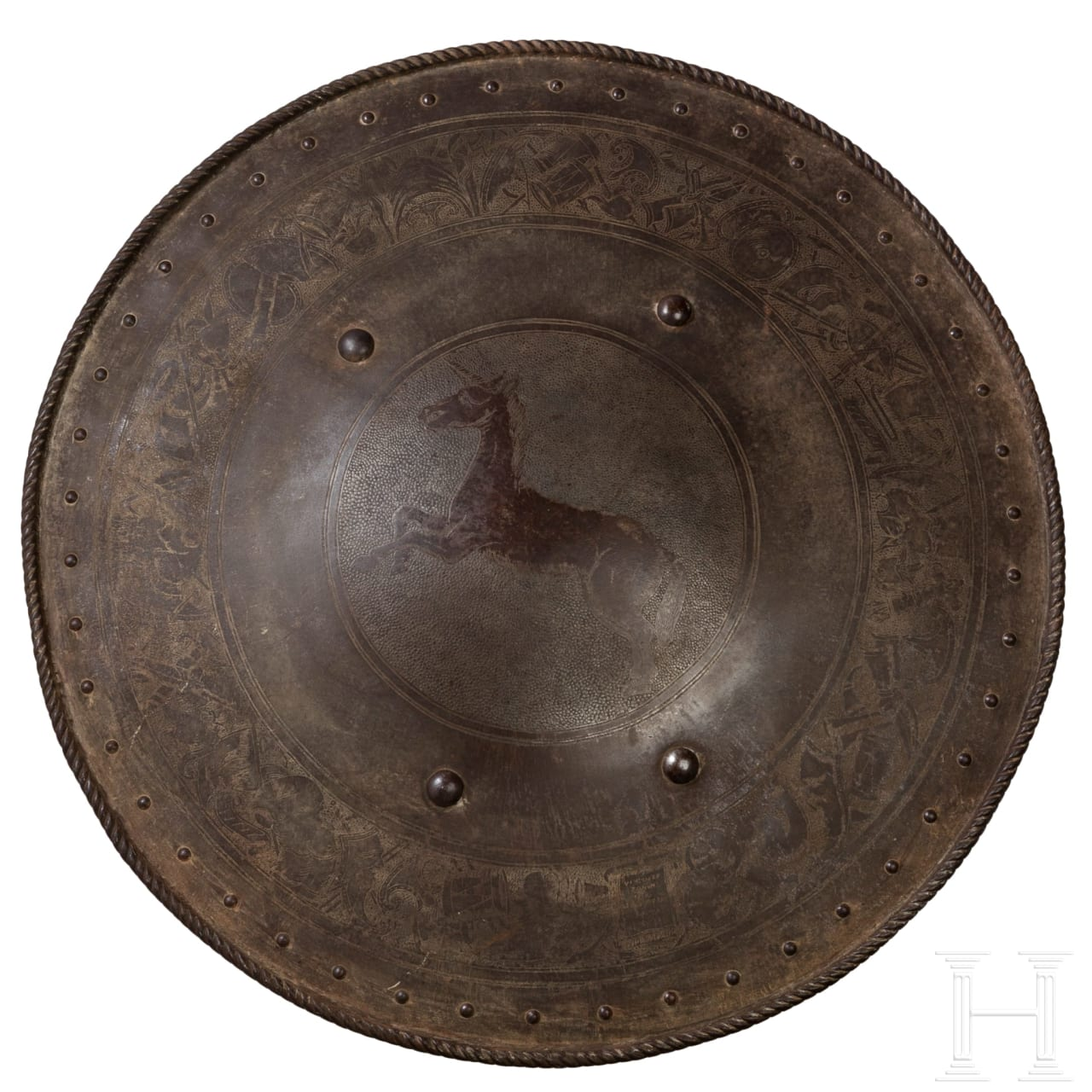 A round shield, collector's replica in the style of the Renaissance