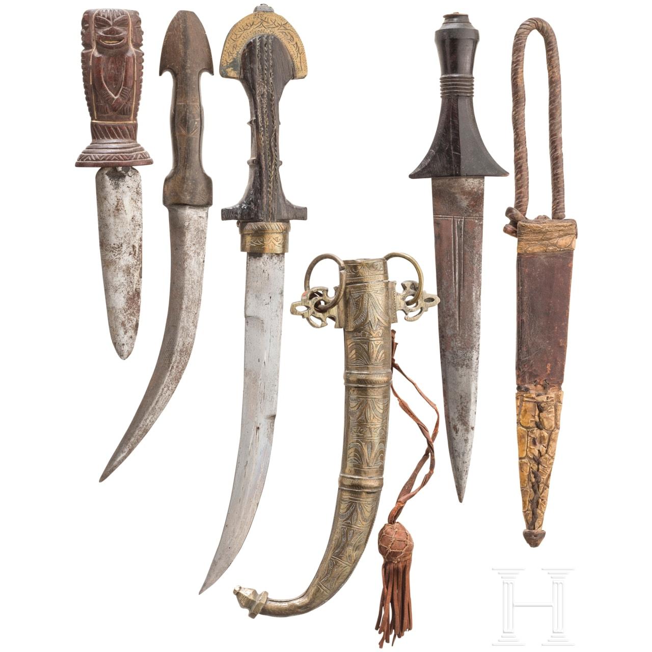 Four daggers, Maghreb, 20th century