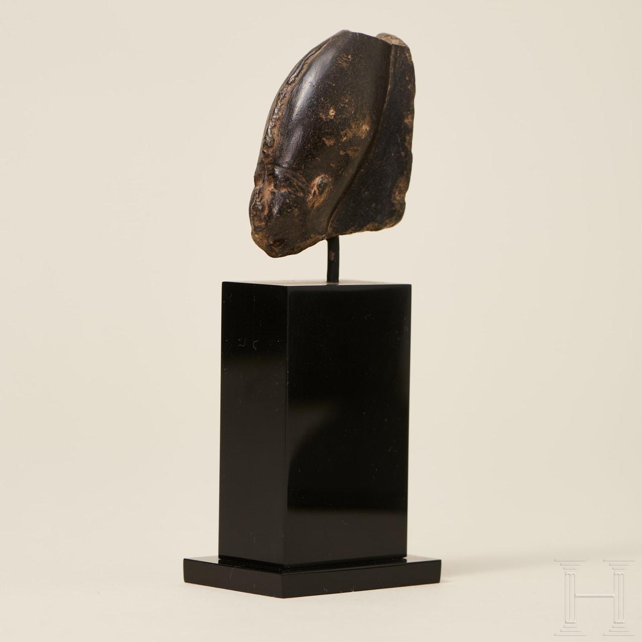 Small head of Osiris, Egypt, New Kingdom, XX dynasty, circa 1189 - 1077 B.C.