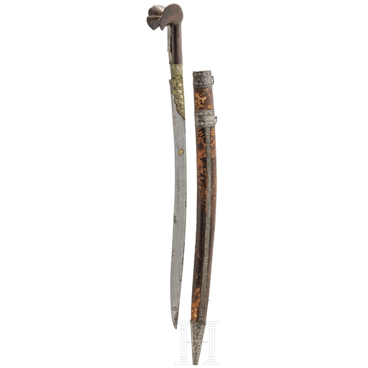 Goldtauschierter Yatagan, osmanisch, datiert 1206 H. (1791/2)