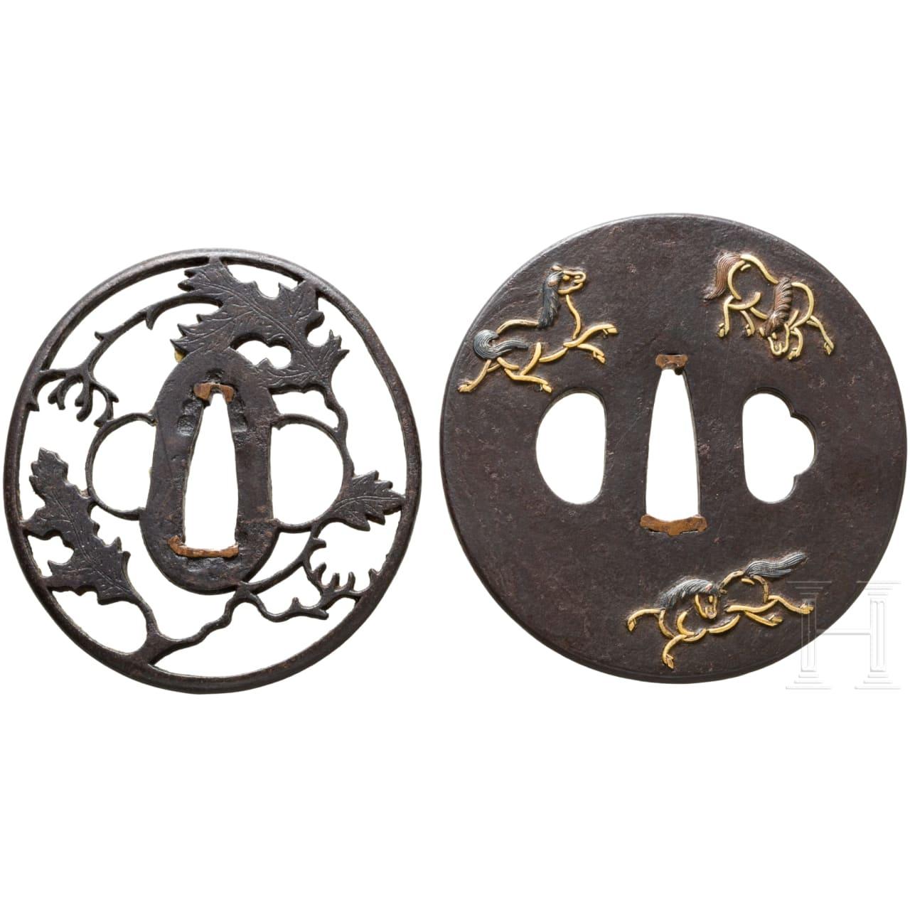 Zwei Tsuben, Japan, Edo-/Meiji-Periode