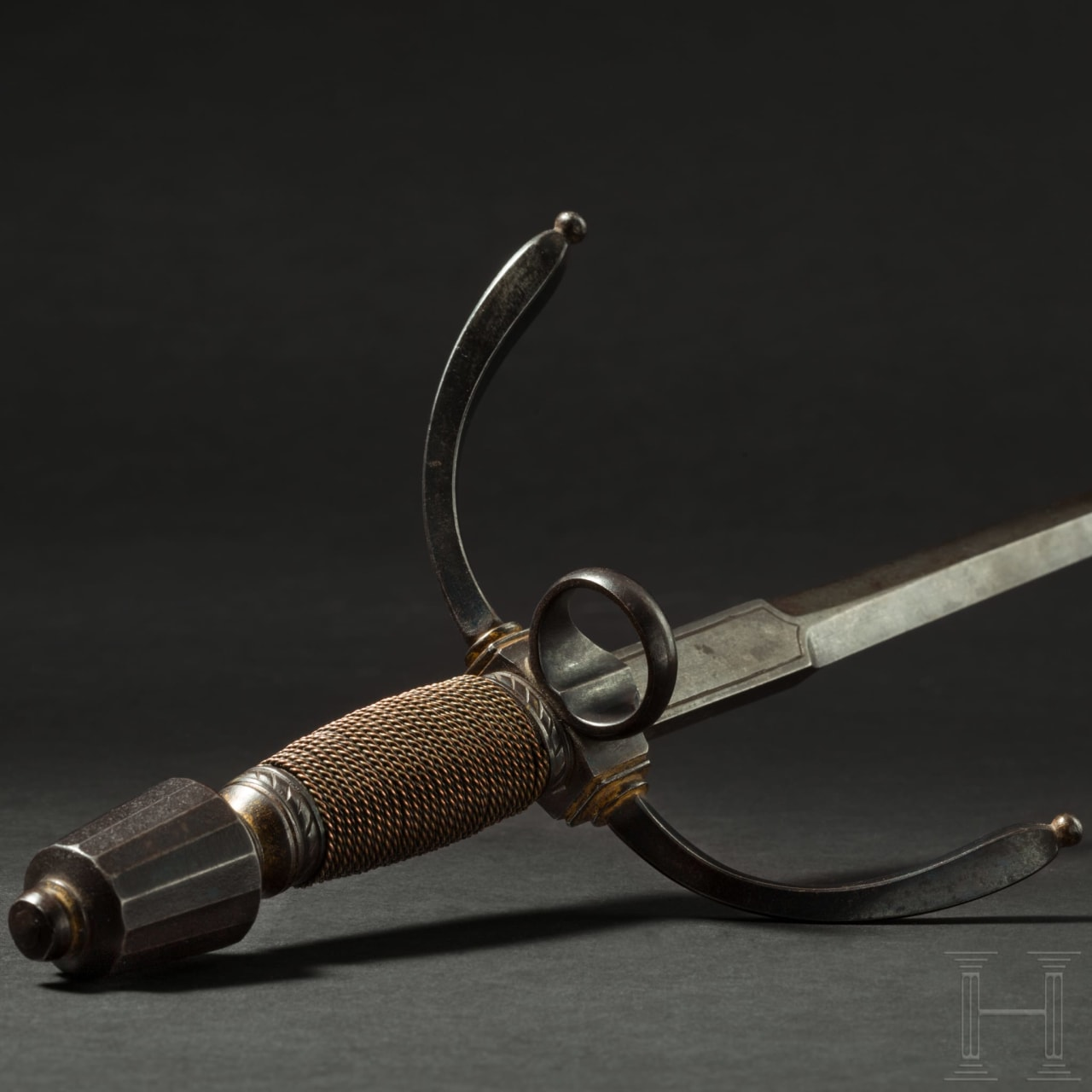 A German, probably Saxon, long left-handed dagger, circa 1600/1610