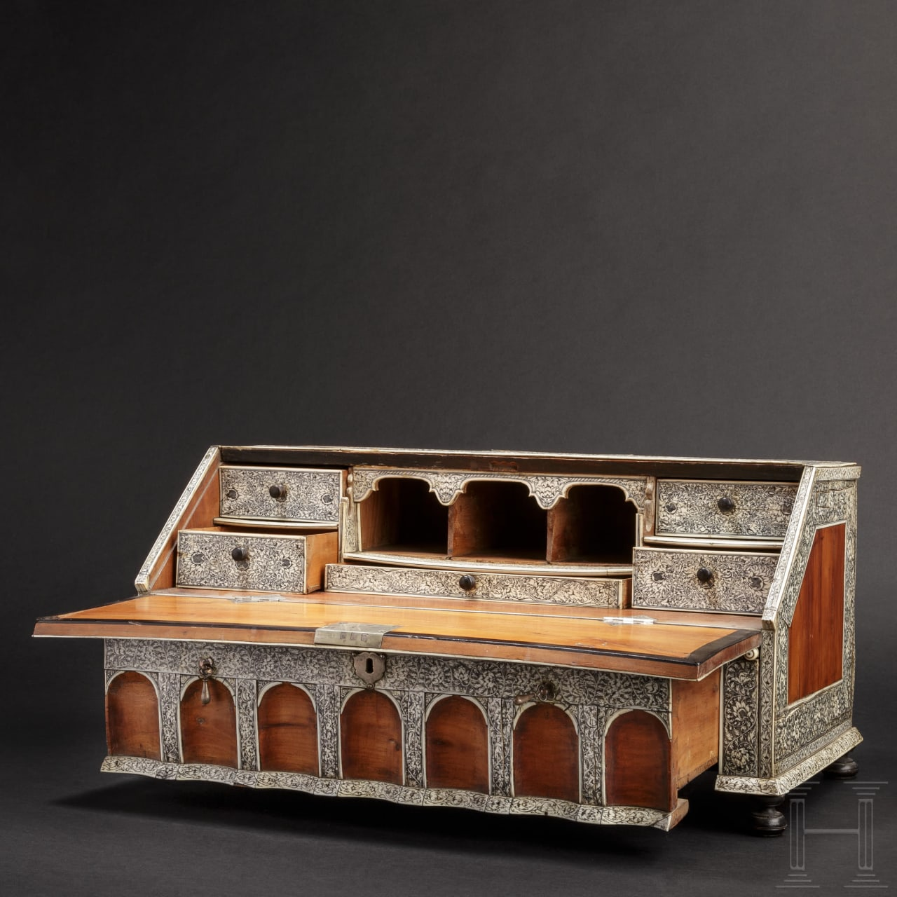 An exquisite table cabinet, Vizapatagam, circa 1740 – 1760