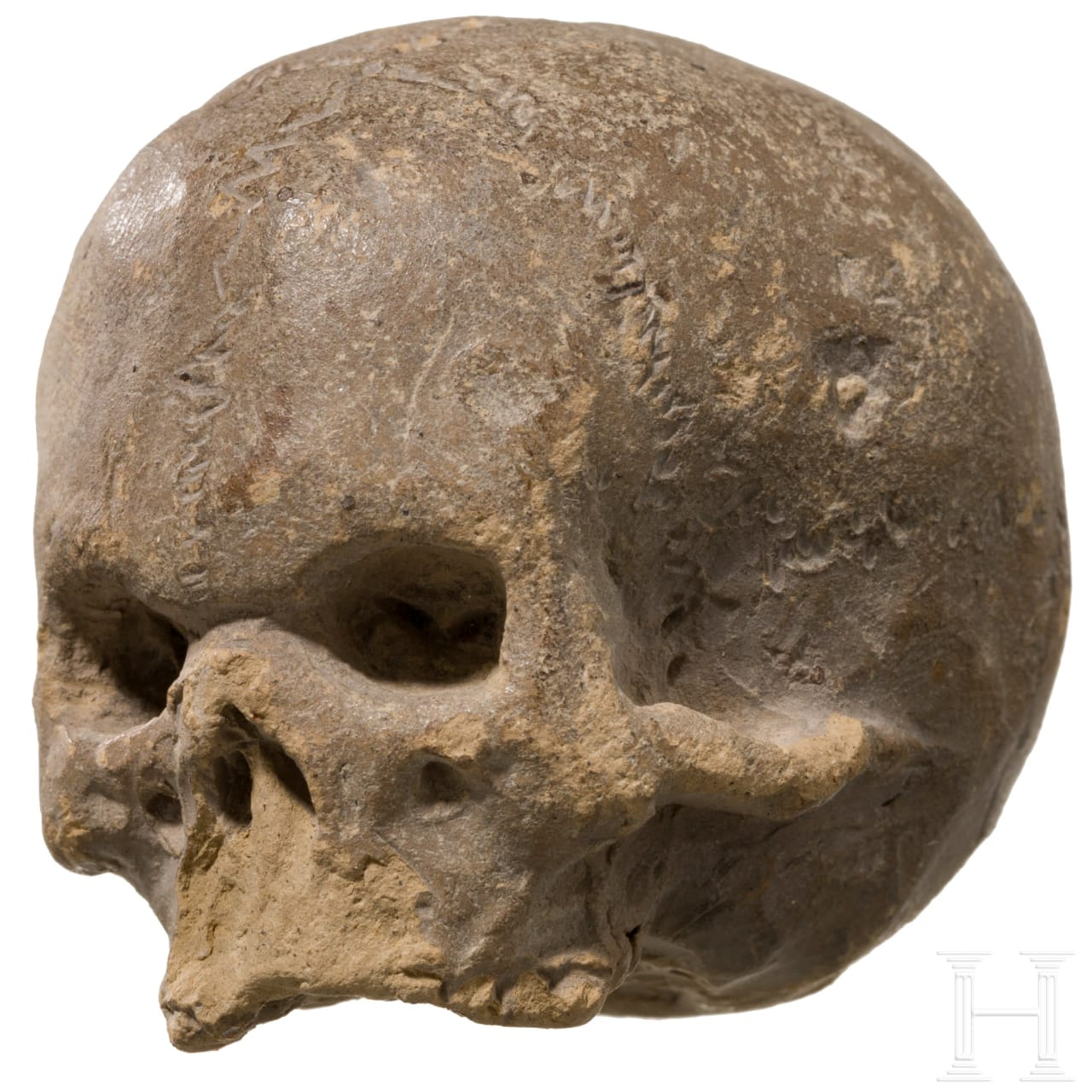 Aussergewöhnlicher Bozetto in Form eines Memento Mori-Schädels, Italien, wohl 17. Jhdt.