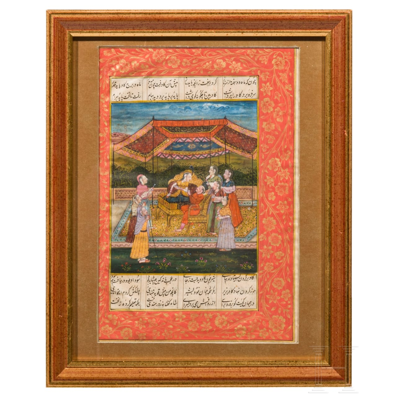 A miniature Gouache painting of a Shahname motif, northern India, 2nd half of the 19th century