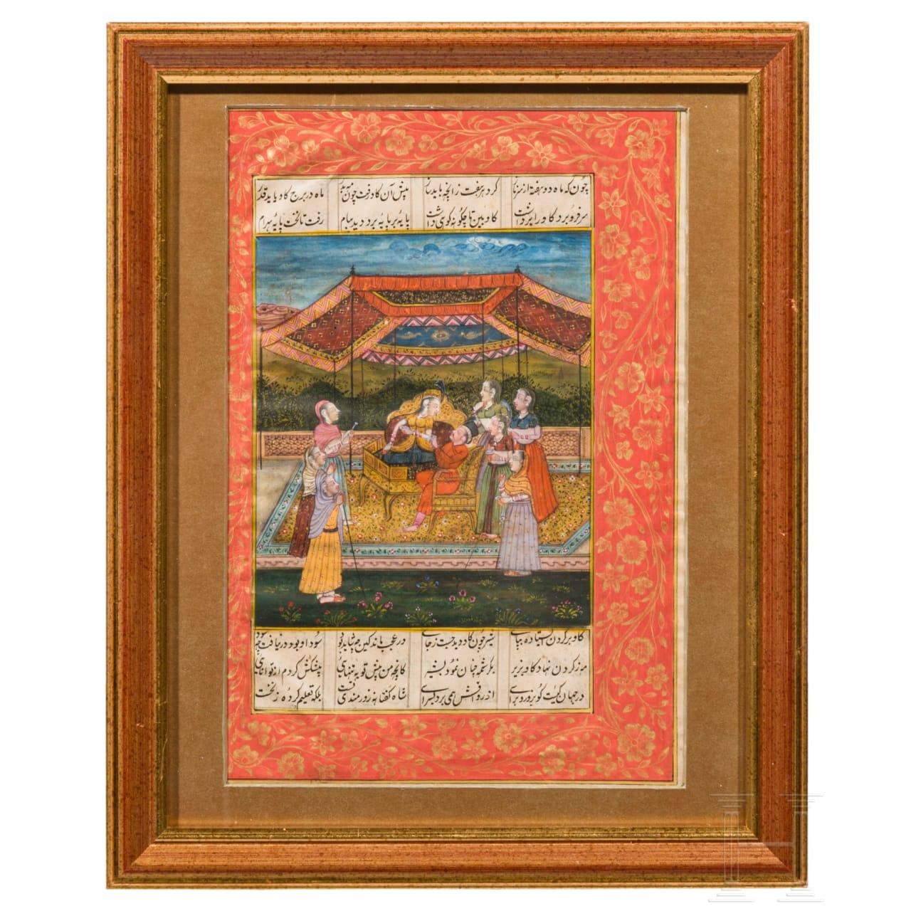 Miniatur aus dem Shahname, Nordindien, 2. Hälfte 19. Jhdt.