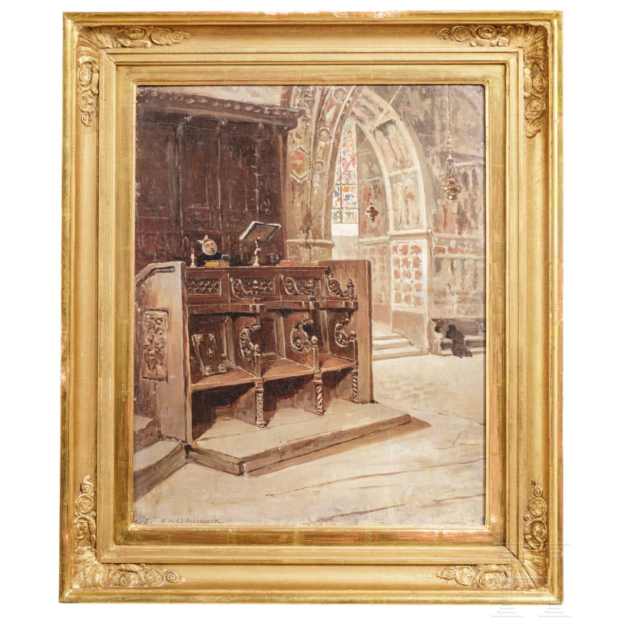 "Frans Wilhelm Odelmark - ""Innenansicht der Basilika St. Francesco in Assisi"""