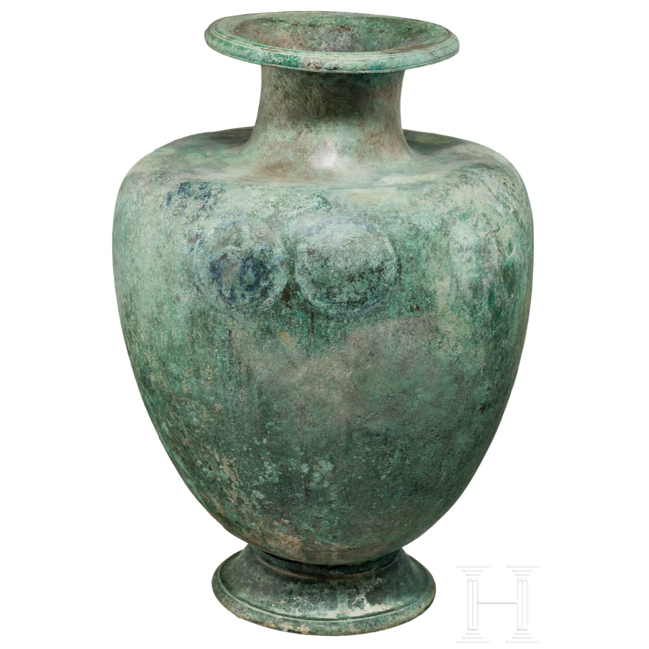 A Greek bronze hydria, 5th century B.C.