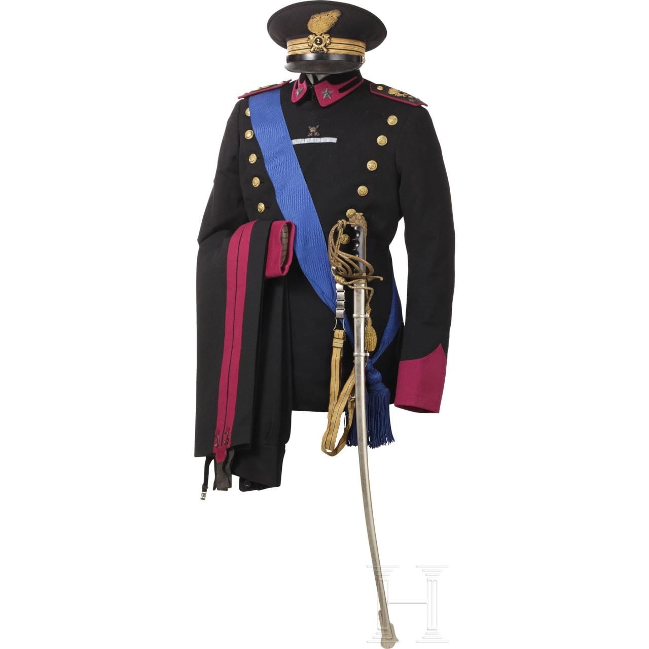 Schwarze Uniform M 34 eines Hauptmanns im Bersaglieri-Regiment Nr. 2