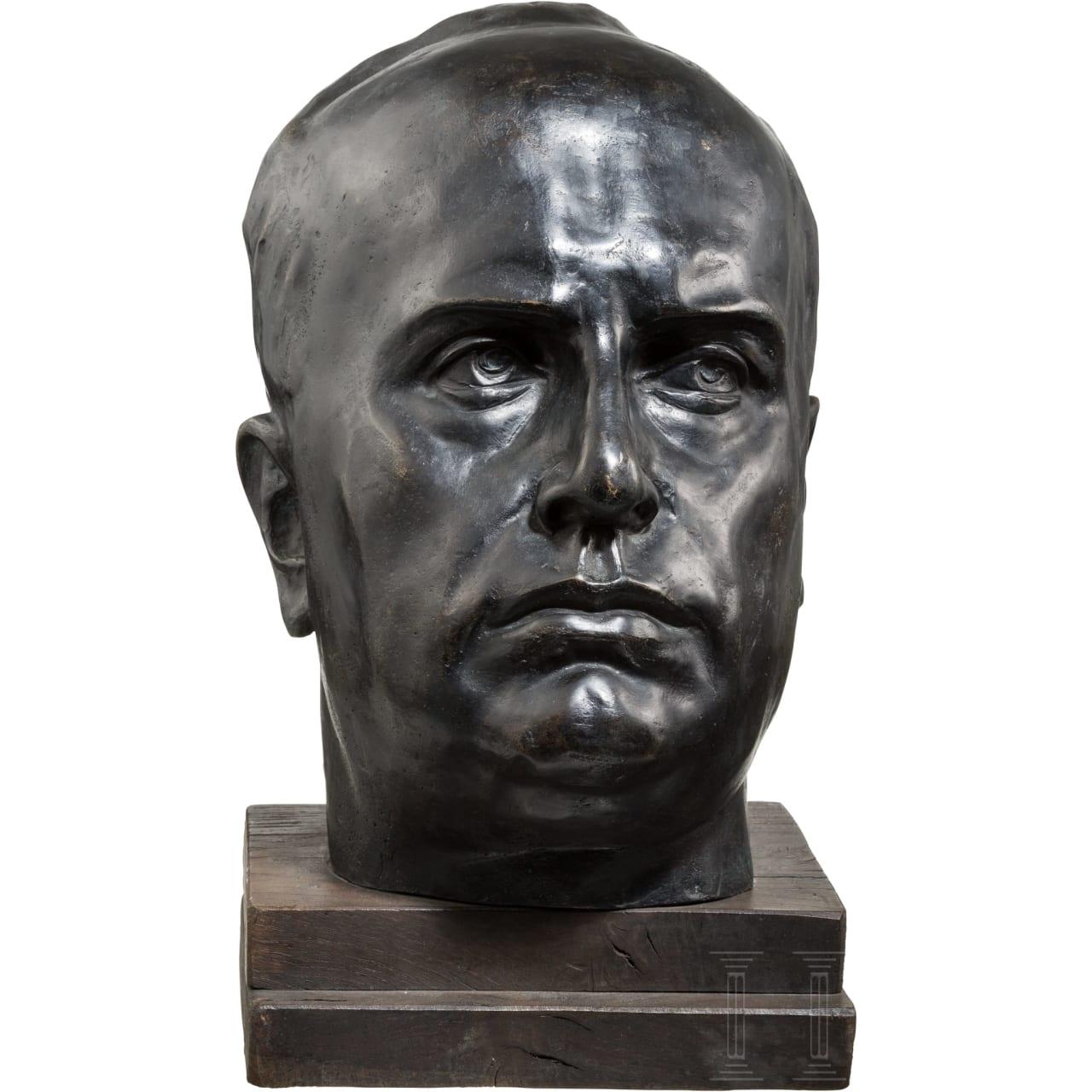 Monumentale Portraitbüste Benito Mussolinis, 1925-30