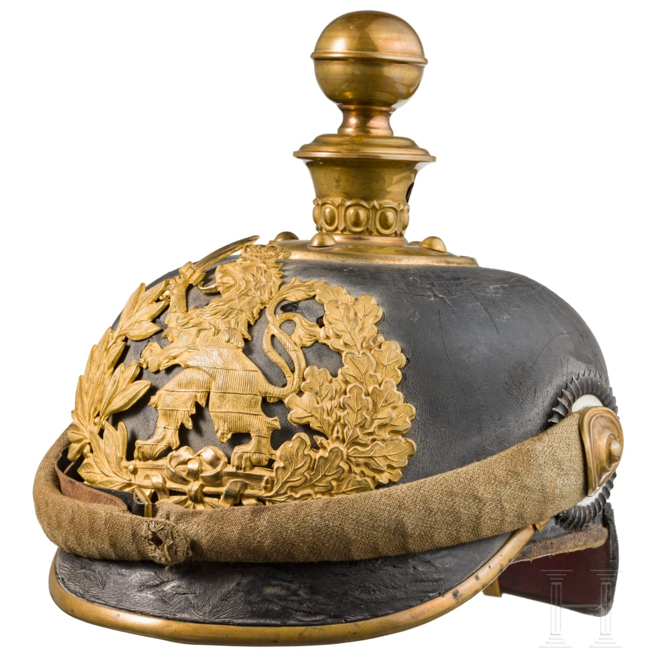 A spike helmet for a Hessian officer's candidate