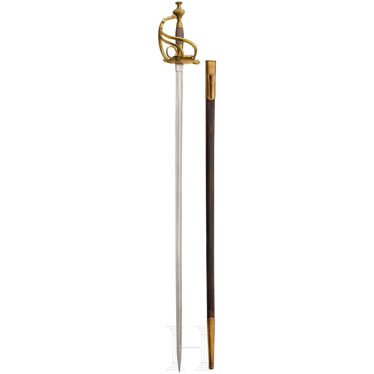 Degen für Offiziere der Infanterie, Vorlagestück, Regierungszeit Friedrichs III.