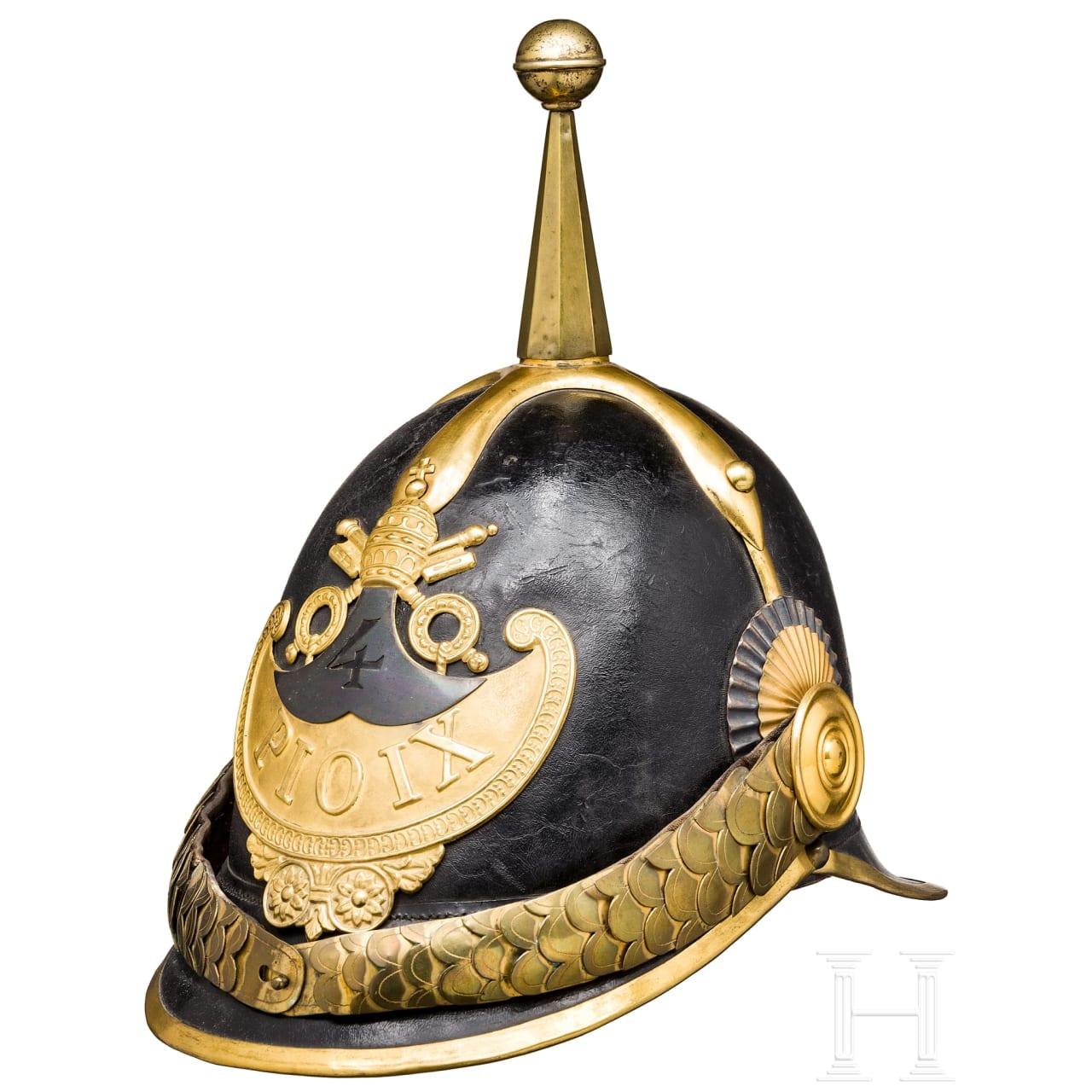 """Helm für Mannschaften der """"Guardia Civica Pontificia"""", 1846 - 78"""