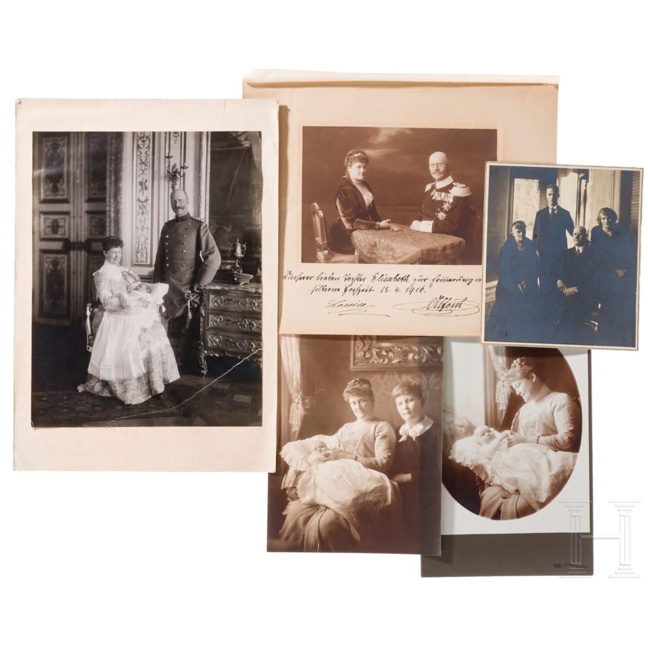 Prinz Alfons und Prinzessin Louise von Bayern - Widmungsfoto zur Silberhochzeit 1916