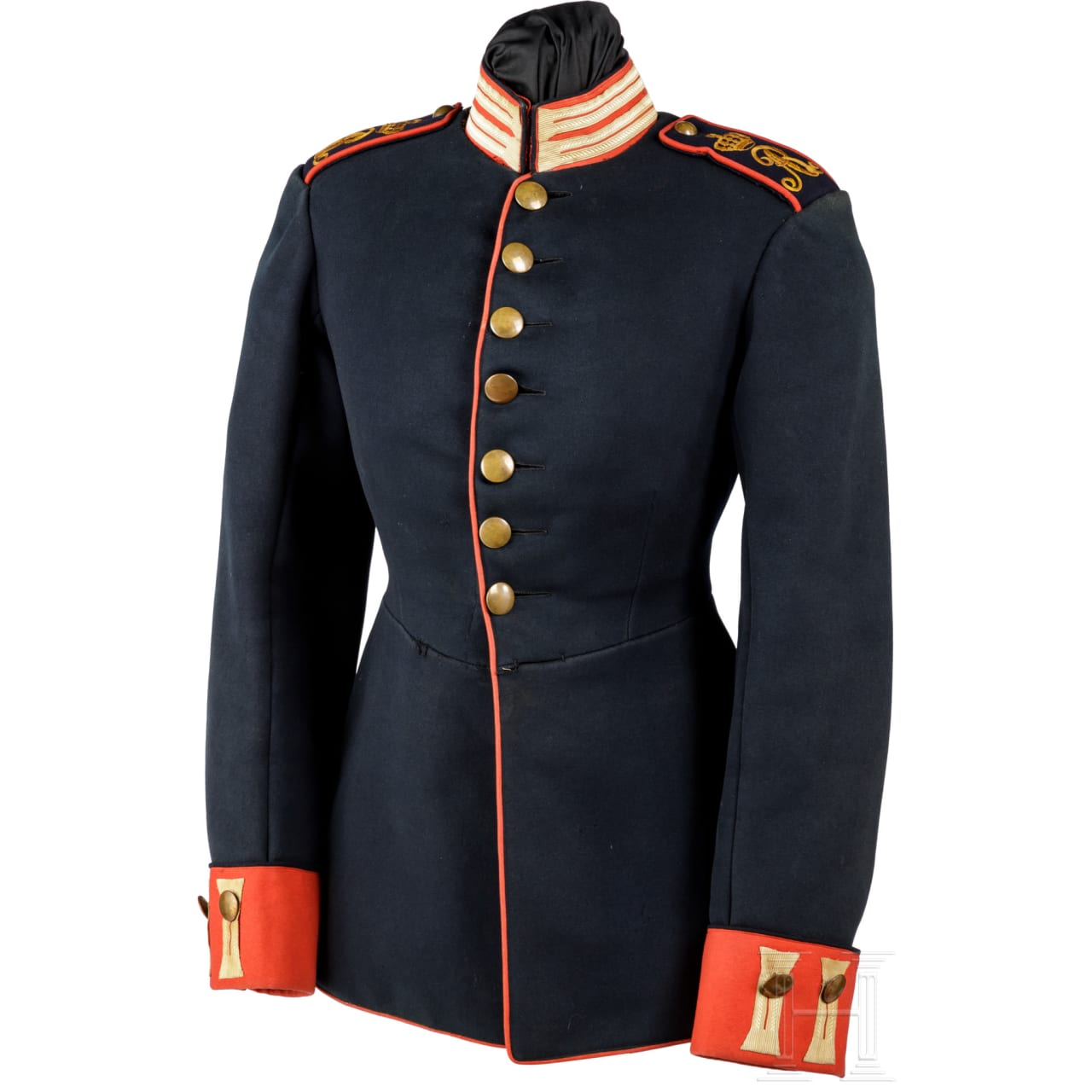 Waffenrock für einen Freiwilligen der königlich-sächsischen Infanterie, um 1900