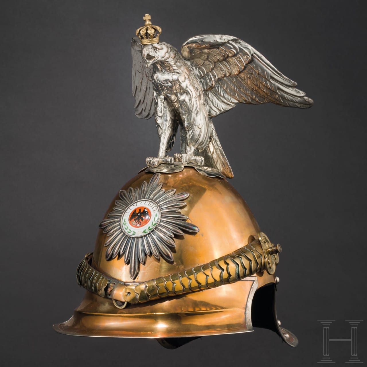 A helmet M 1843 for officers of the Regiments Guard du Corps and Guard Cuirassiers