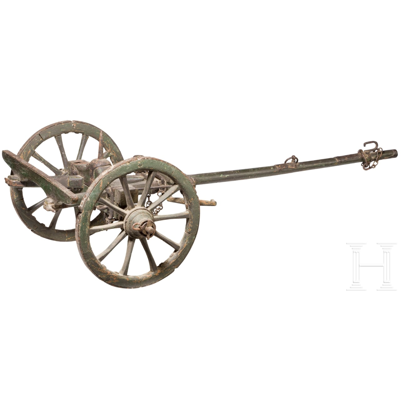 A limber for the model of a French fieldgun, 19th century